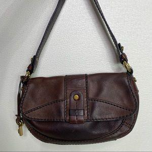 FOSSIL Vintage Brown Leather Shoulder Bag